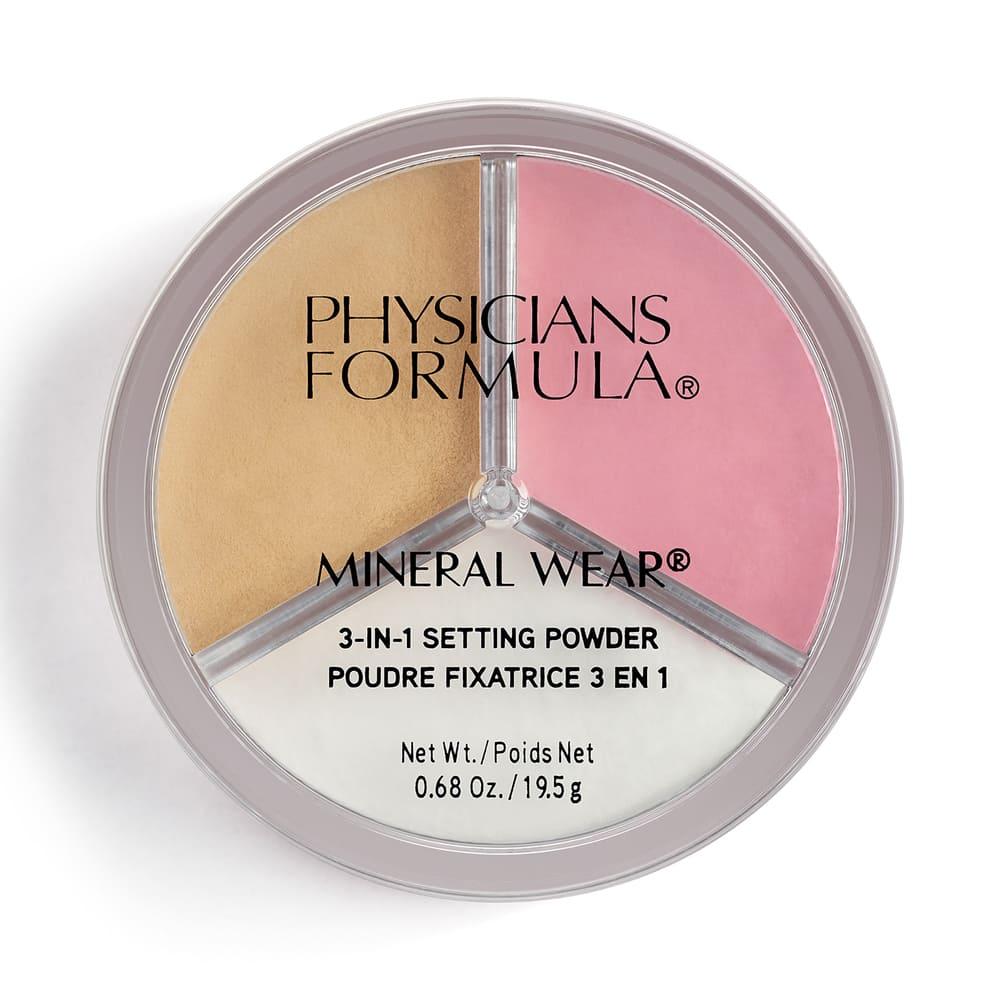 PHYSICIANS FORMULA Пудра рассыпчатая 3 в 1 Mineral Wear 3-in-1 Setting Powder, 19.5 г