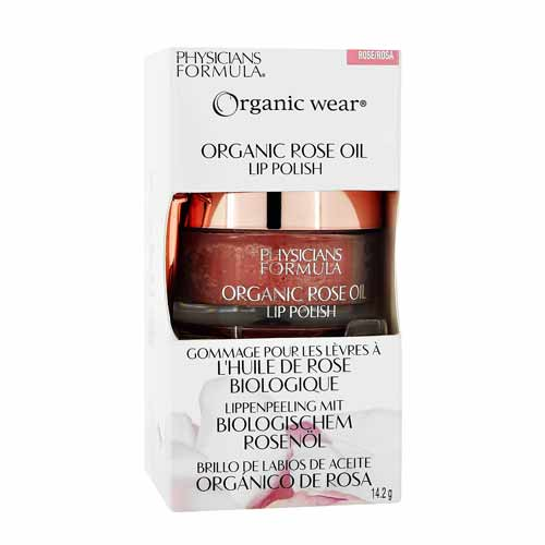 PHYSICIANS FORMULA Скраб для губ Organic Wear Organic Rose Oil Lip Polish, 14,2гр